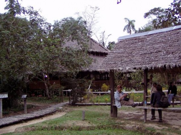 Onze lodge in de jungle.